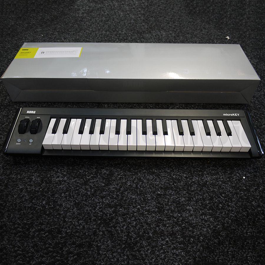 korg microkey2 37 key compact midi keyboard w box 2nd hand rich tone music. Black Bedroom Furniture Sets. Home Design Ideas