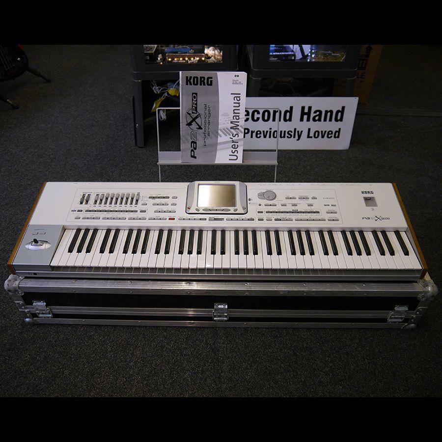 korg pa2x pro keyboard white w flight case 2nd hand rich tone music. Black Bedroom Furniture Sets. Home Design Ideas