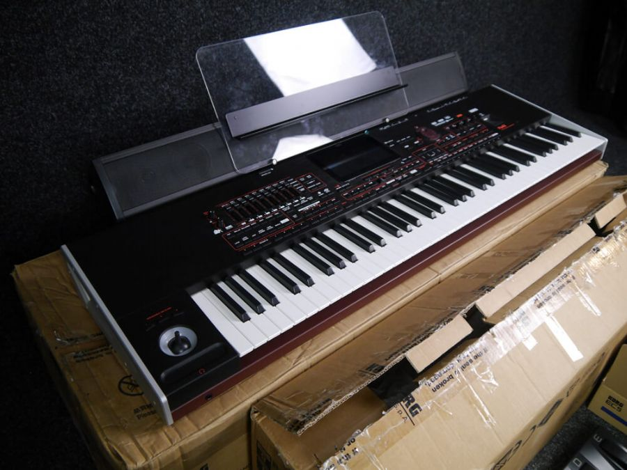 korg pa4x 76 keyboard paas soundbar ec 5 foot controller w box 2nd hand rich tone music. Black Bedroom Furniture Sets. Home Design Ideas