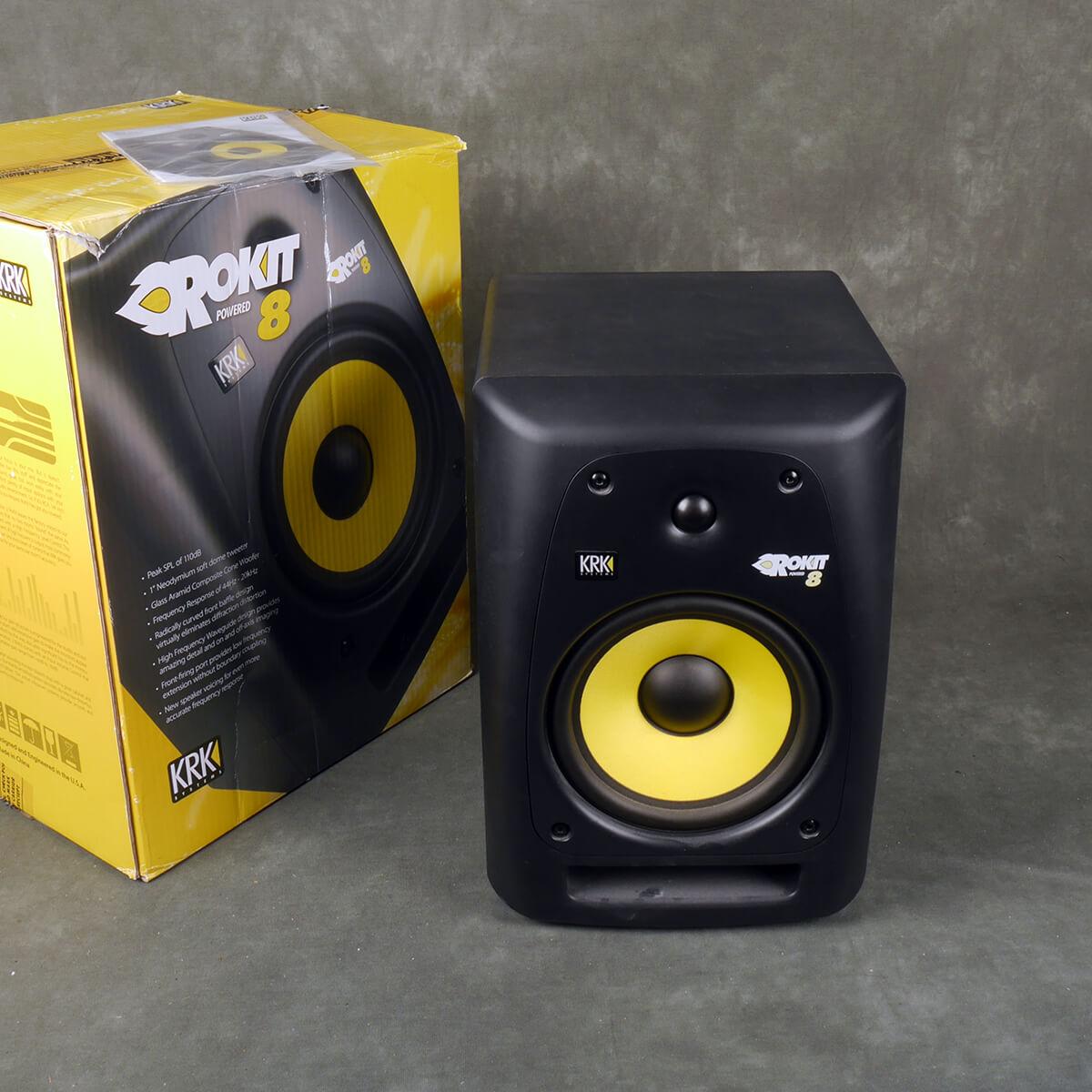KRK Rokit 8 Powered Studio Monitor w/Box - 2nd Hand