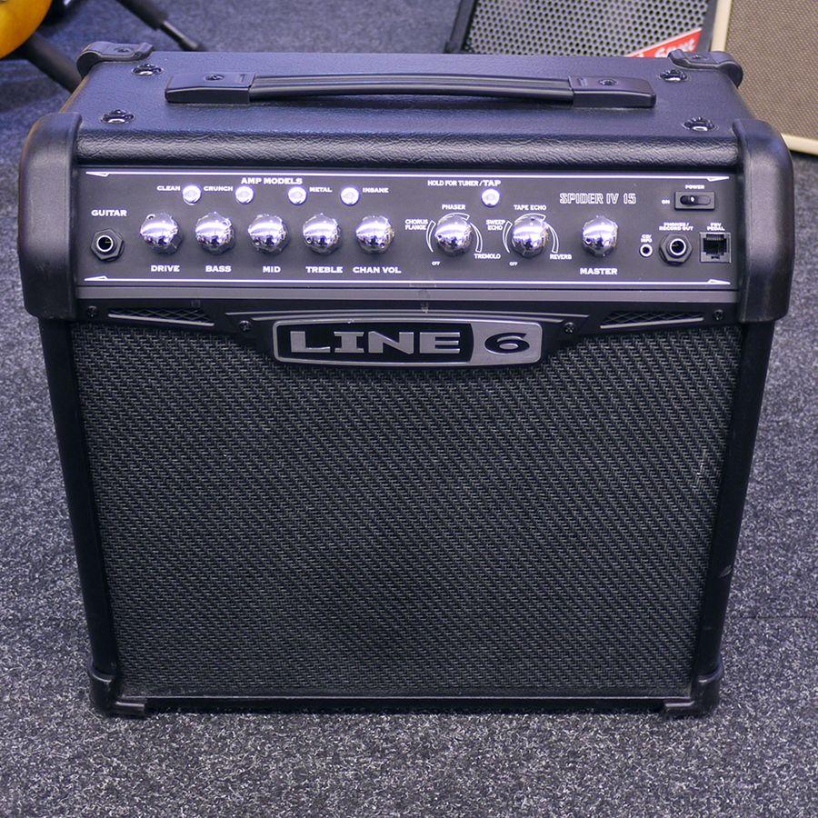 line 6 spider iv 15 watt guitar amplifier 2nd hand rich tone music. Black Bedroom Furniture Sets. Home Design Ideas