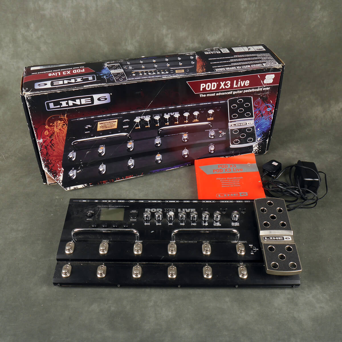 Line 6 Pod X3 Live FX Pedal Floorboard w/Box & PSU - 2nd Hand