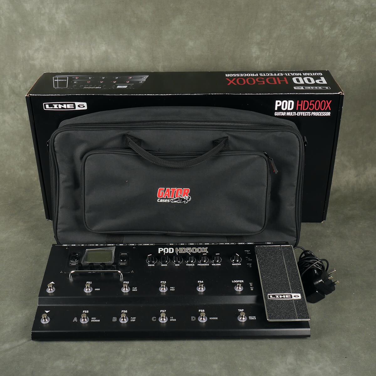 Line 6 POD HD500X FX Floorboard & Gigbag w/Box & PSU - 2nd Hand