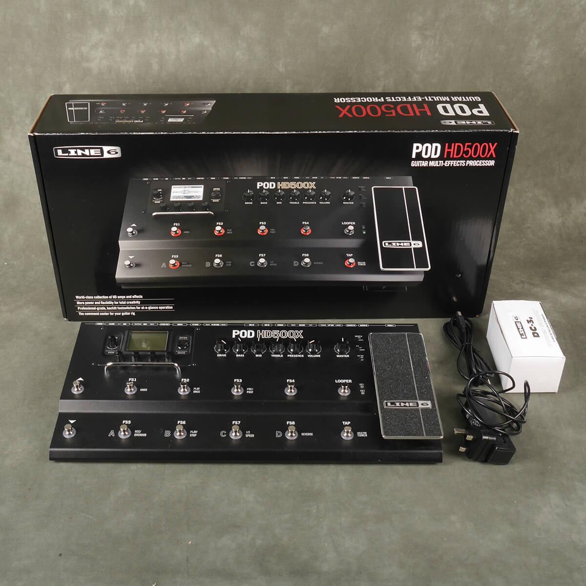 Line 6 HD500X Multi FX Processor w/Box & PSU - 2nd Hand