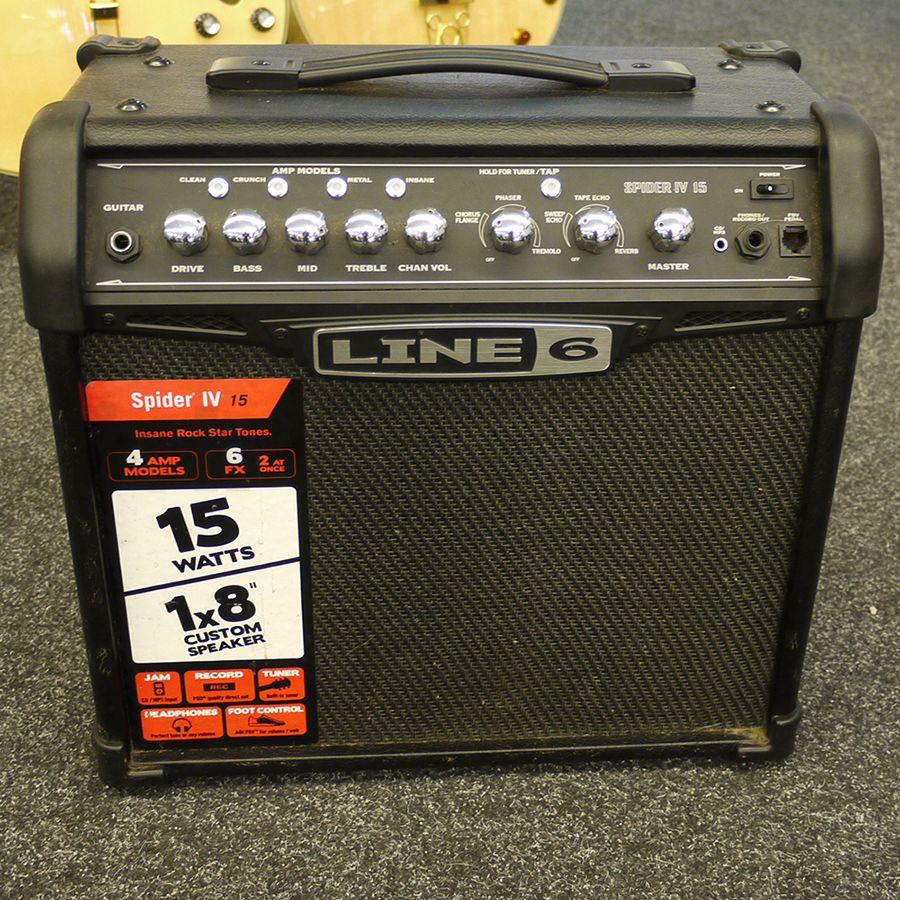 line 6 spider iv 15 amplifier 2nd hand rich tone music. Black Bedroom Furniture Sets. Home Design Ideas