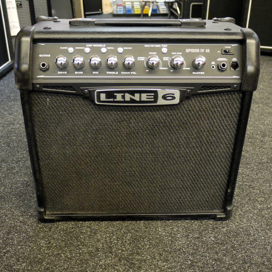 line 6 spider iv 15 guitar amplifier 2nd hand rich tone music. Black Bedroom Furniture Sets. Home Design Ideas
