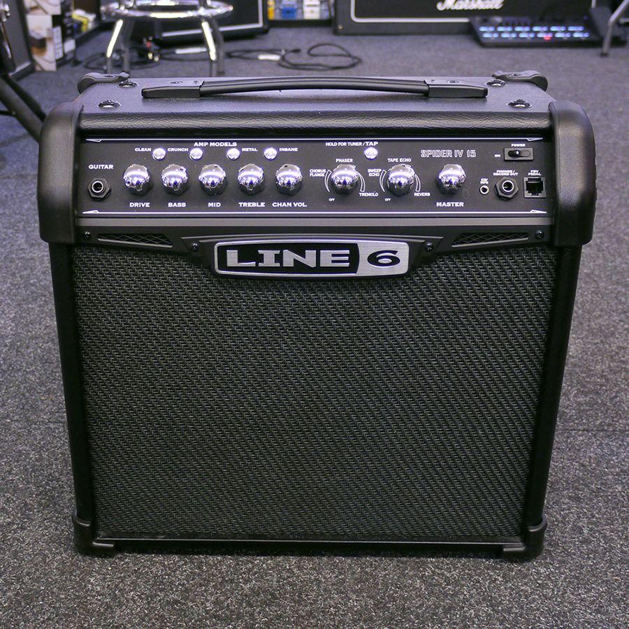 line 6 spider iv 15 combo amplifier 2nd hand rich tone music. Black Bedroom Furniture Sets. Home Design Ideas