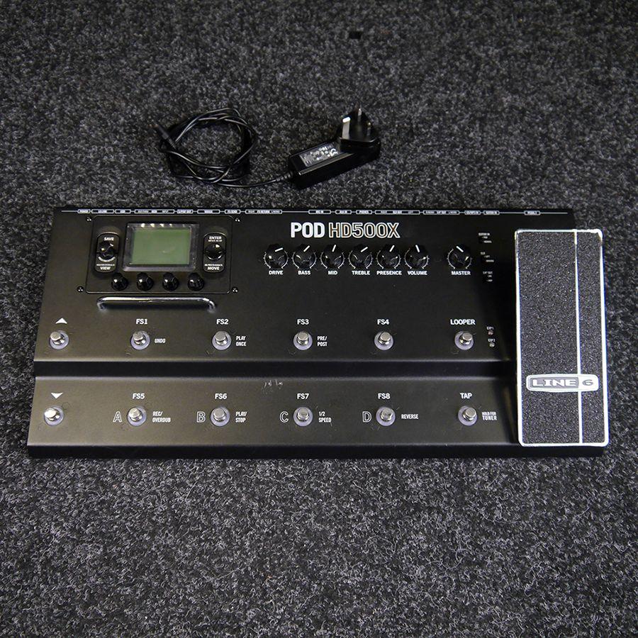 line 6 pod hd500x multi effects pedal w psu 2nd hand rich tone music. Black Bedroom Furniture Sets. Home Design Ideas