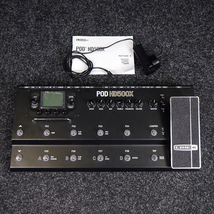 line 6 pod hd500x multi effects processor 2nd hand rich tone music. Black Bedroom Furniture Sets. Home Design Ideas