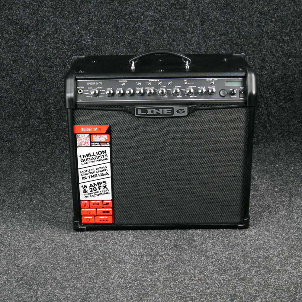 LINE 6 SPIDER IV 75 Electric Guitar Amplifier - 2nd Hand