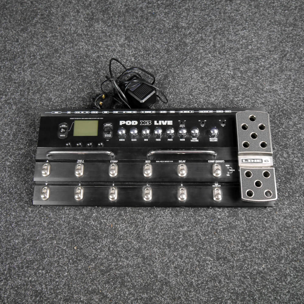 line 6 pod x3 live multi effects pedal 2nd hand rich tone music. Black Bedroom Furniture Sets. Home Design Ideas