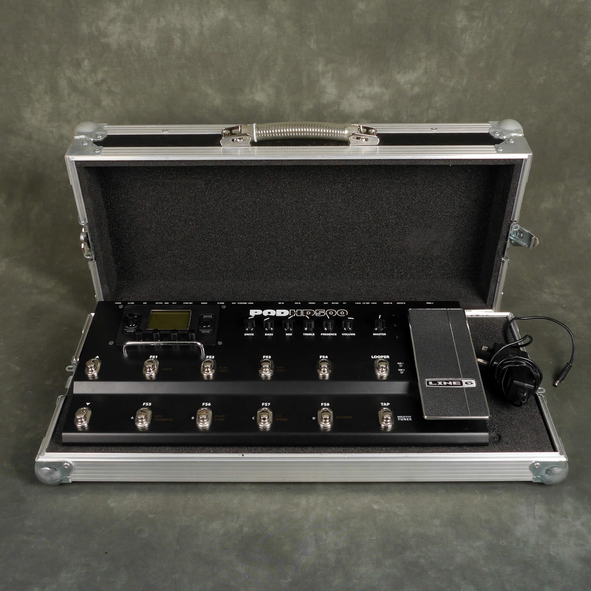 Line 6 Pod HD500 Multi Effects FX Floorboard w/Flight Case - 2nd Hand