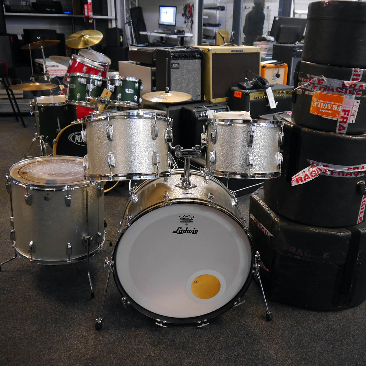 Ludwig Super Classic Kit - Silver Sparkle w/Case - 2nd Hand **COLLECTION ONLY**