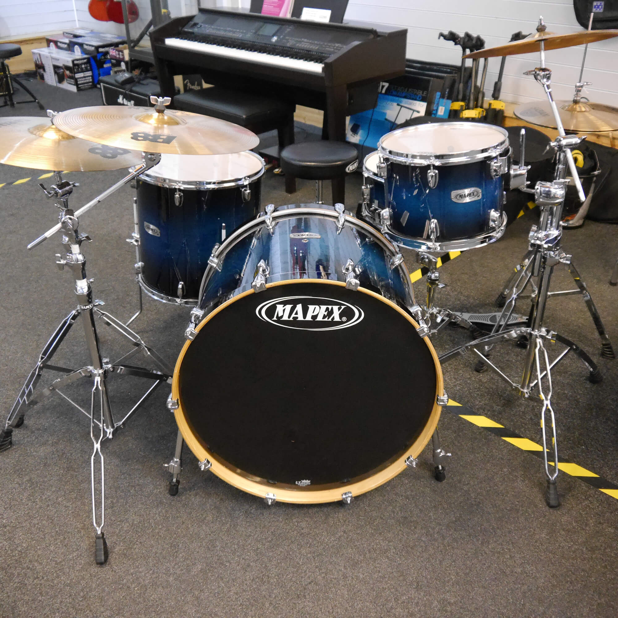 Mapex M Birch Drum Kit, Hardware, Sabian B8 w/Bag - 2nd Hand **COLLECTION ONLY**