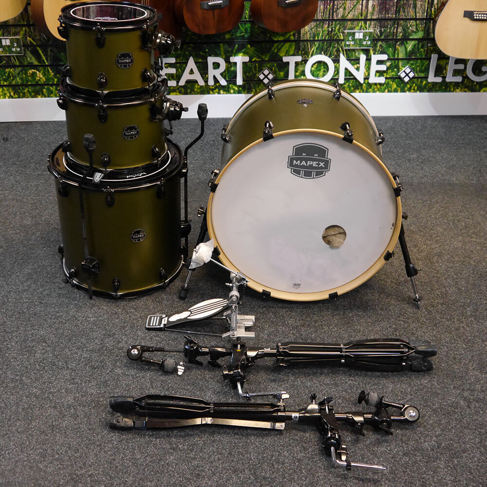 Mapex Armory Rock Fusion Shell Pack - Mantis Green with Hardware - 2nd Hand