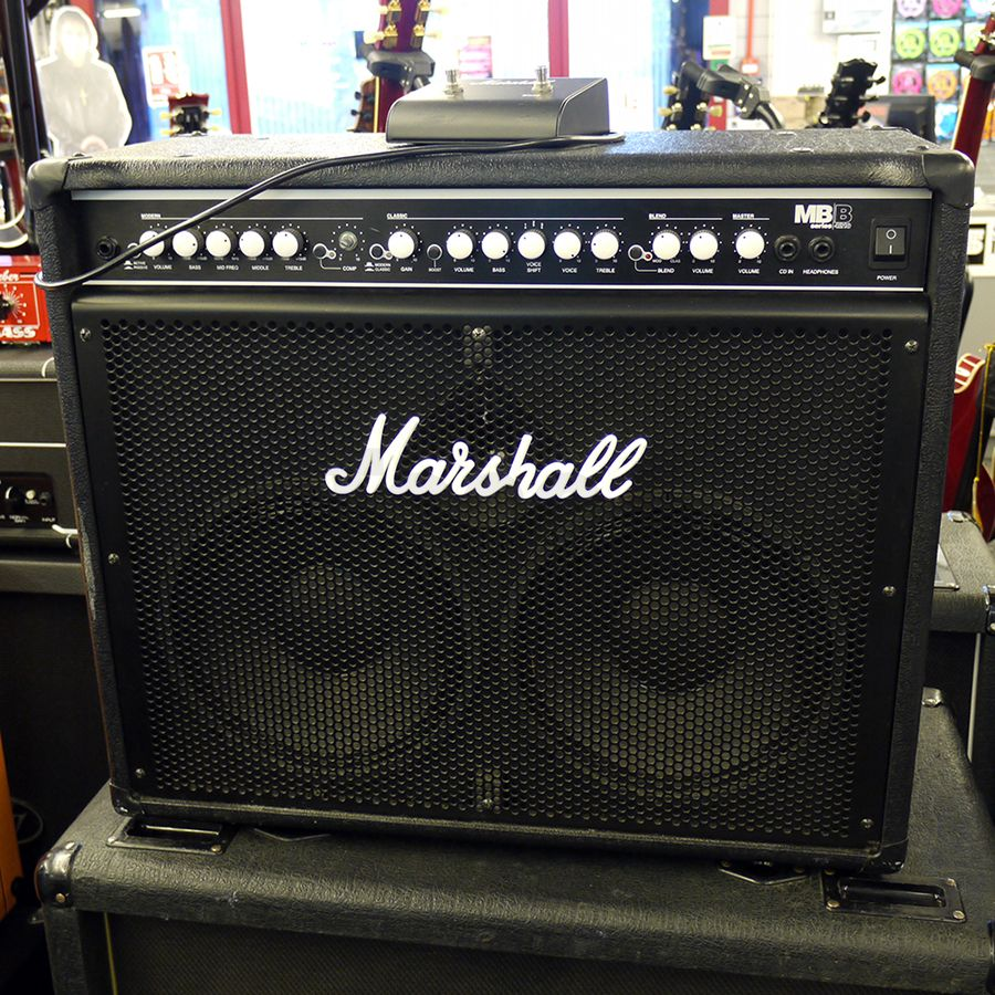 marshall mb4210 2 x 10 bass combo amp w foot switch 2nd hand rich tone music. Black Bedroom Furniture Sets. Home Design Ideas