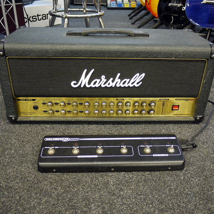 marshall avt150 guitar amp head w footswitch 2nd hand rich tone music. Black Bedroom Furniture Sets. Home Design Ideas
