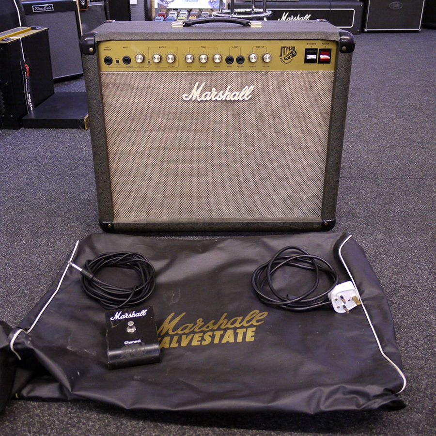 marshall jtm30 guitar combo amp w cover and footswitch 2nd hand rich tone music. Black Bedroom Furniture Sets. Home Design Ideas