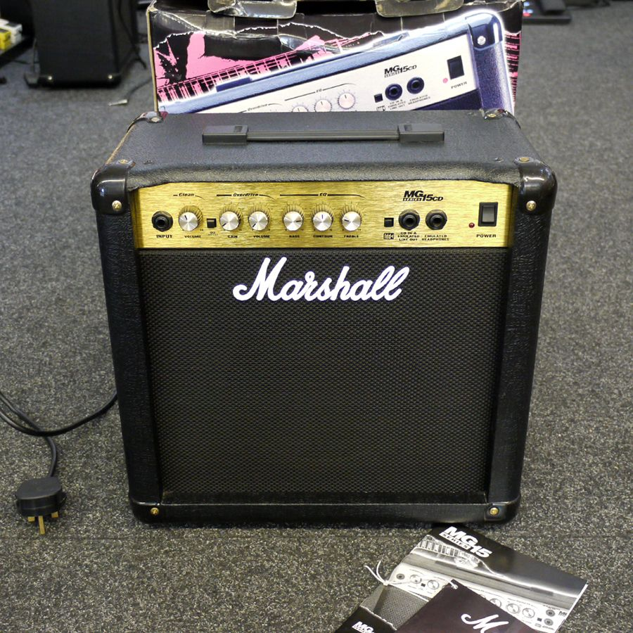 marshall mg15cd combo guitar amp w box 2nd hand rich tone music. Black Bedroom Furniture Sets. Home Design Ideas
