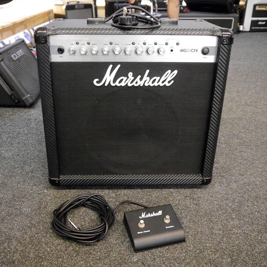 marshall mg50dfx guitar amplifier w footswitch 2nd hand rich tone music. Black Bedroom Furniture Sets. Home Design Ideas
