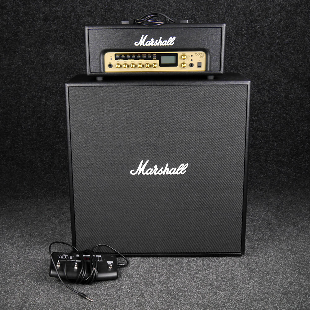 Marshall Code Head & 412 Cabinet w/footswitch - 2nd Hand **COLLECTION ONLY**