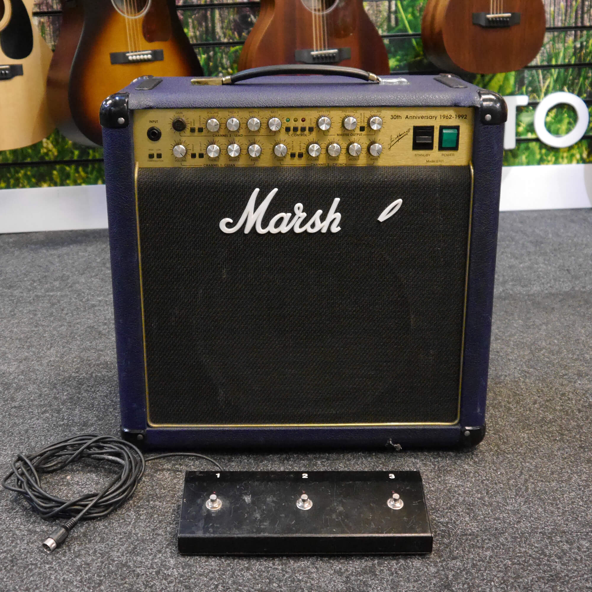 Marshall 6101 30th Anniversary Amplifier - Blue - 2nd Hand **COLLECTION ONLY**