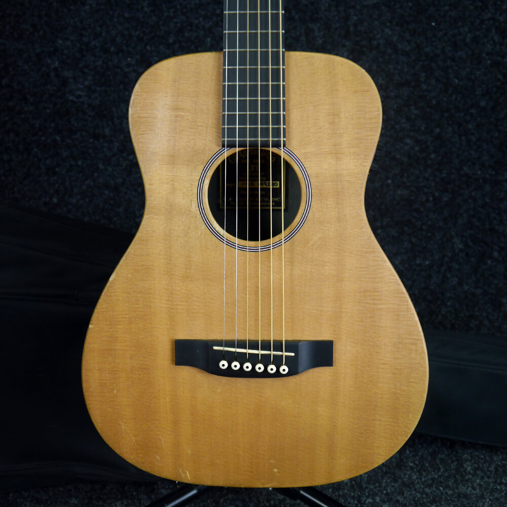 martin lx1 left handed little martin small acoustic guitar w gig bag 2nd hand rich tone music. Black Bedroom Furniture Sets. Home Design Ideas