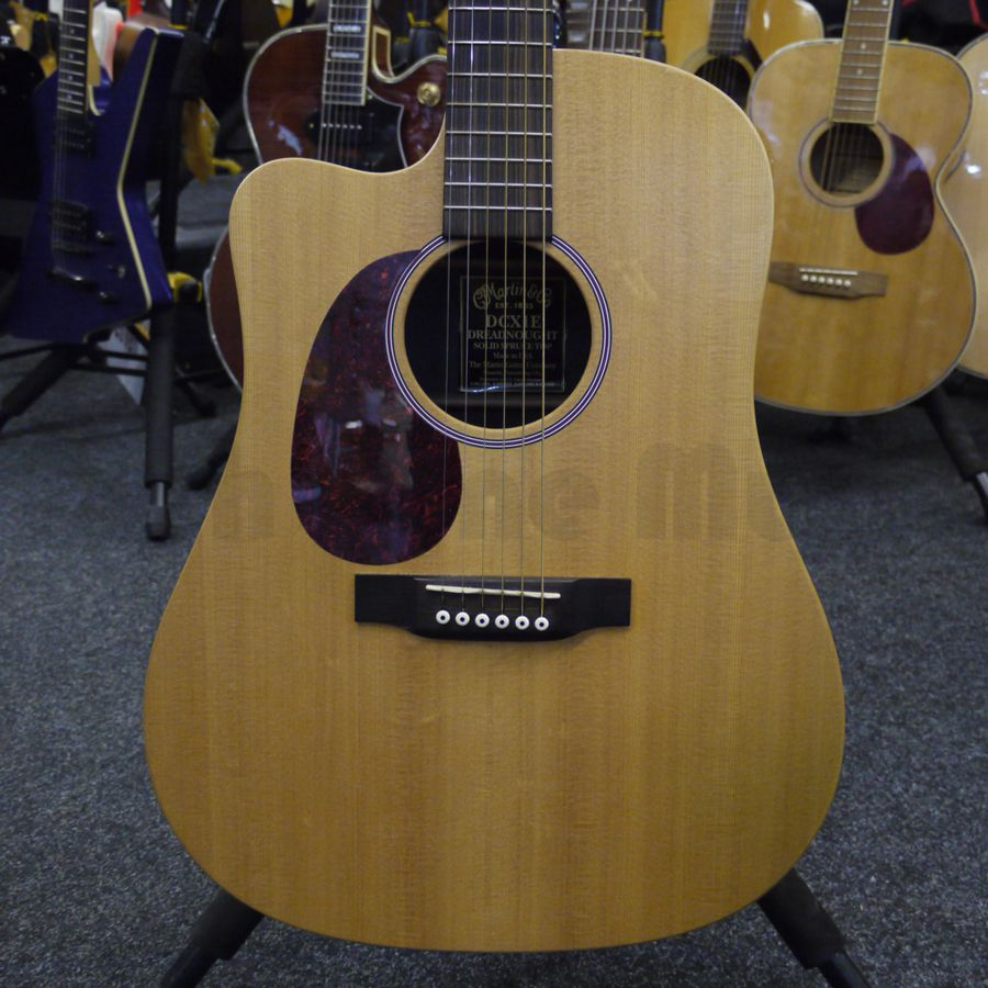 martin dc1xe left handed acoustic guitar 2nd hand rich tone music. Black Bedroom Furniture Sets. Home Design Ideas