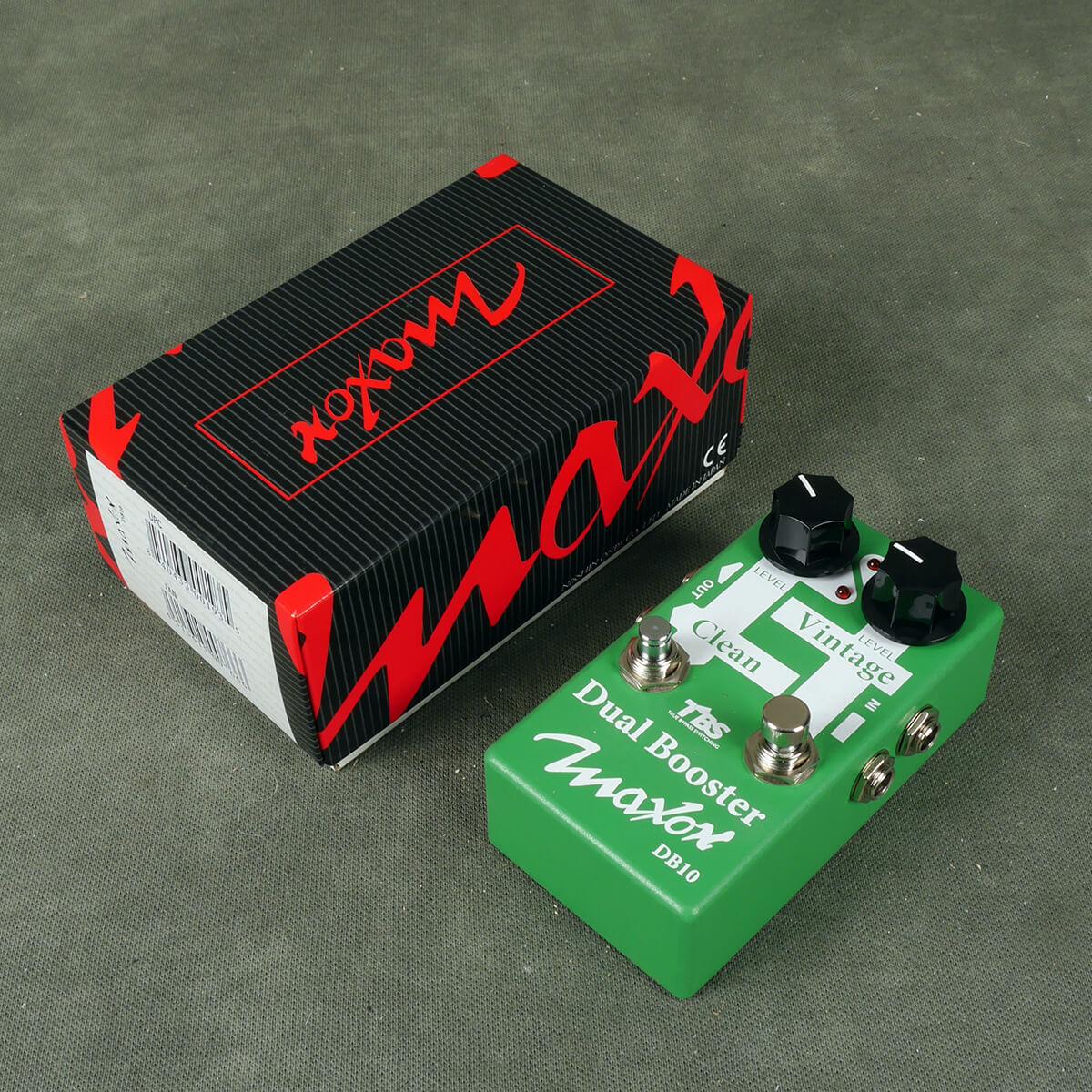 Maxon DB10 Dual Booster FX Pedal w/Box - 2nd Hand