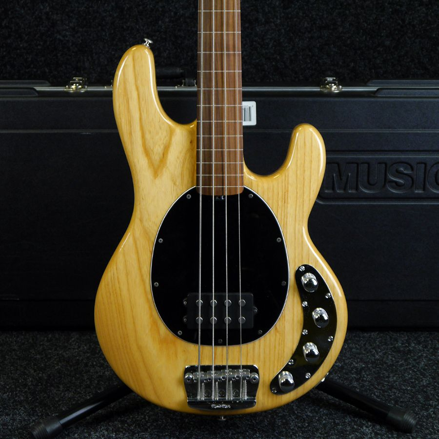 musicman stingray 4 fretless bass guitar natural w case 2nd hand rich tone music. Black Bedroom Furniture Sets. Home Design Ideas