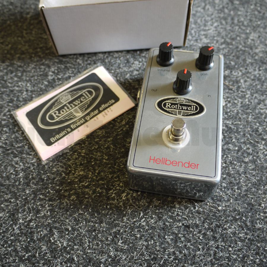 rothwell hellbender vintage distortion guitar fx pedal 2nd hand rich tone music. Black Bedroom Furniture Sets. Home Design Ideas