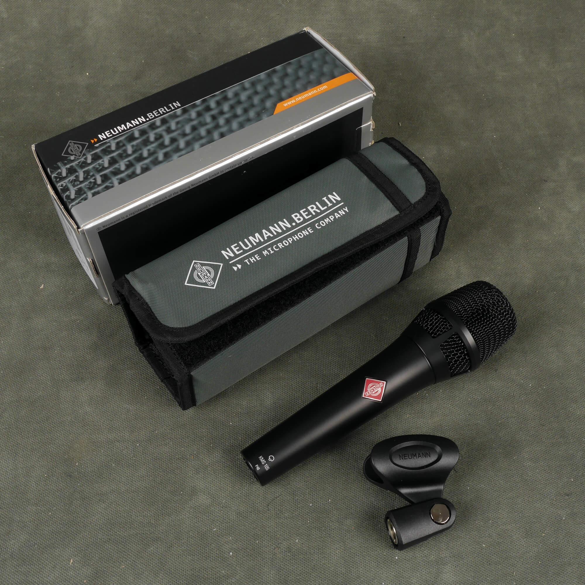 Neumann KMS105 BK Condenser Microphone w/Box - 2nd Hand