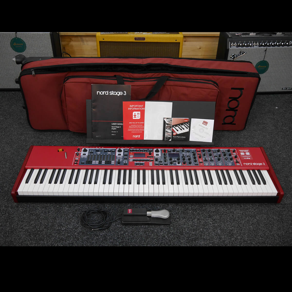 Nord Stage 3 HA88 Stage Piano & Pedal w/Gig Bag - 2nd Hand **COLLECTION ONLY**
