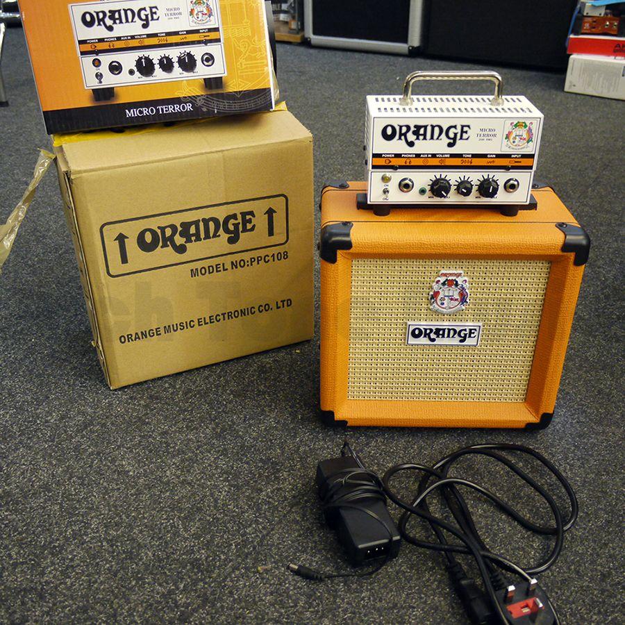 orange micro terror guitar amp head cabinet w box 2nd hand rich tone music. Black Bedroom Furniture Sets. Home Design Ideas
