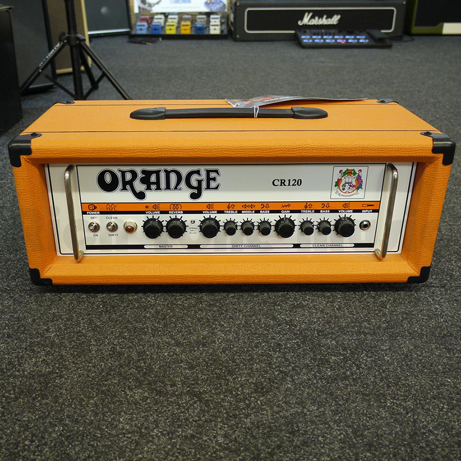 orange crush cr120h amp head 2nd hand rich tone music. Black Bedroom Furniture Sets. Home Design Ideas