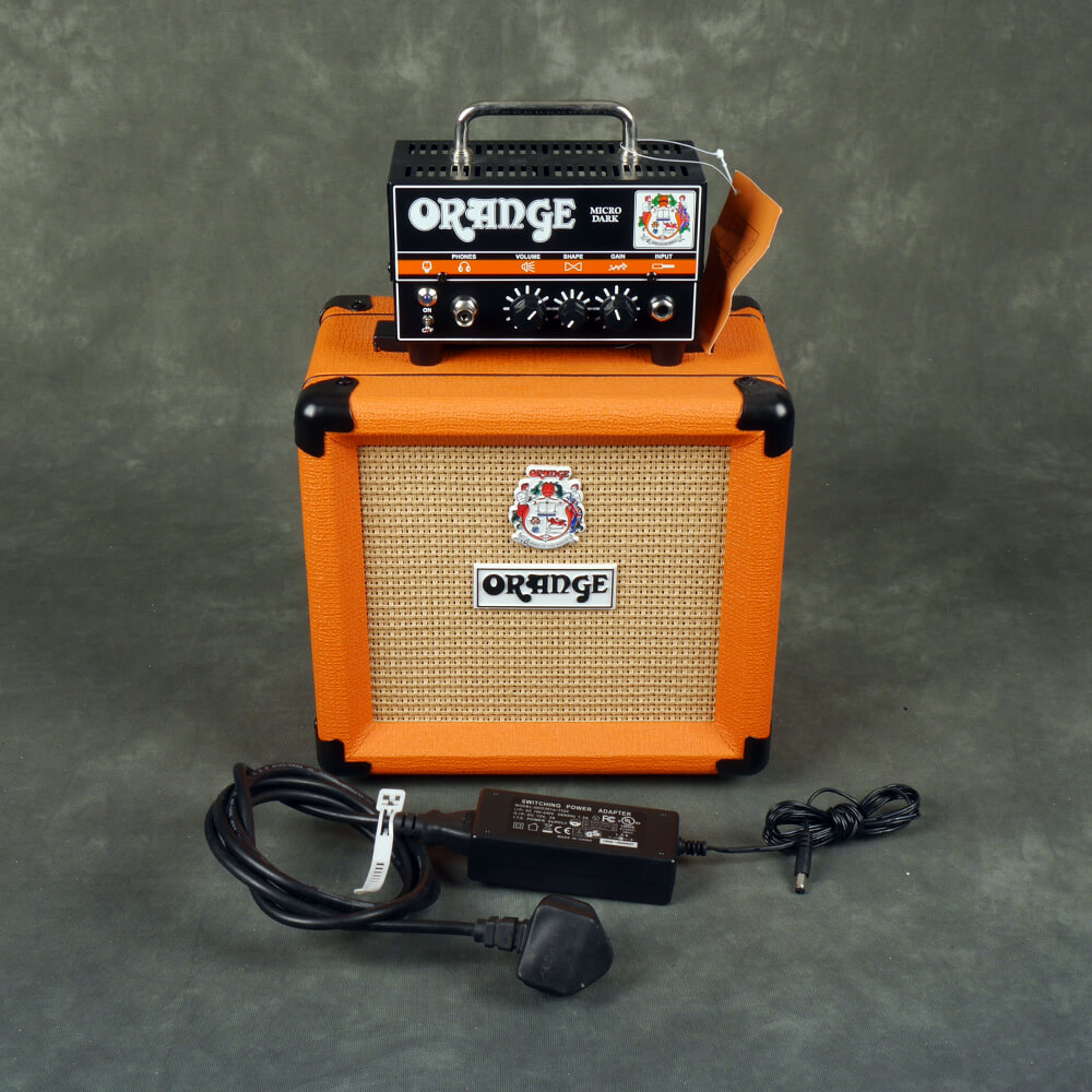 Orange Micro Dark Amp Head /w PPC108 Cabinet - 2nd Hand