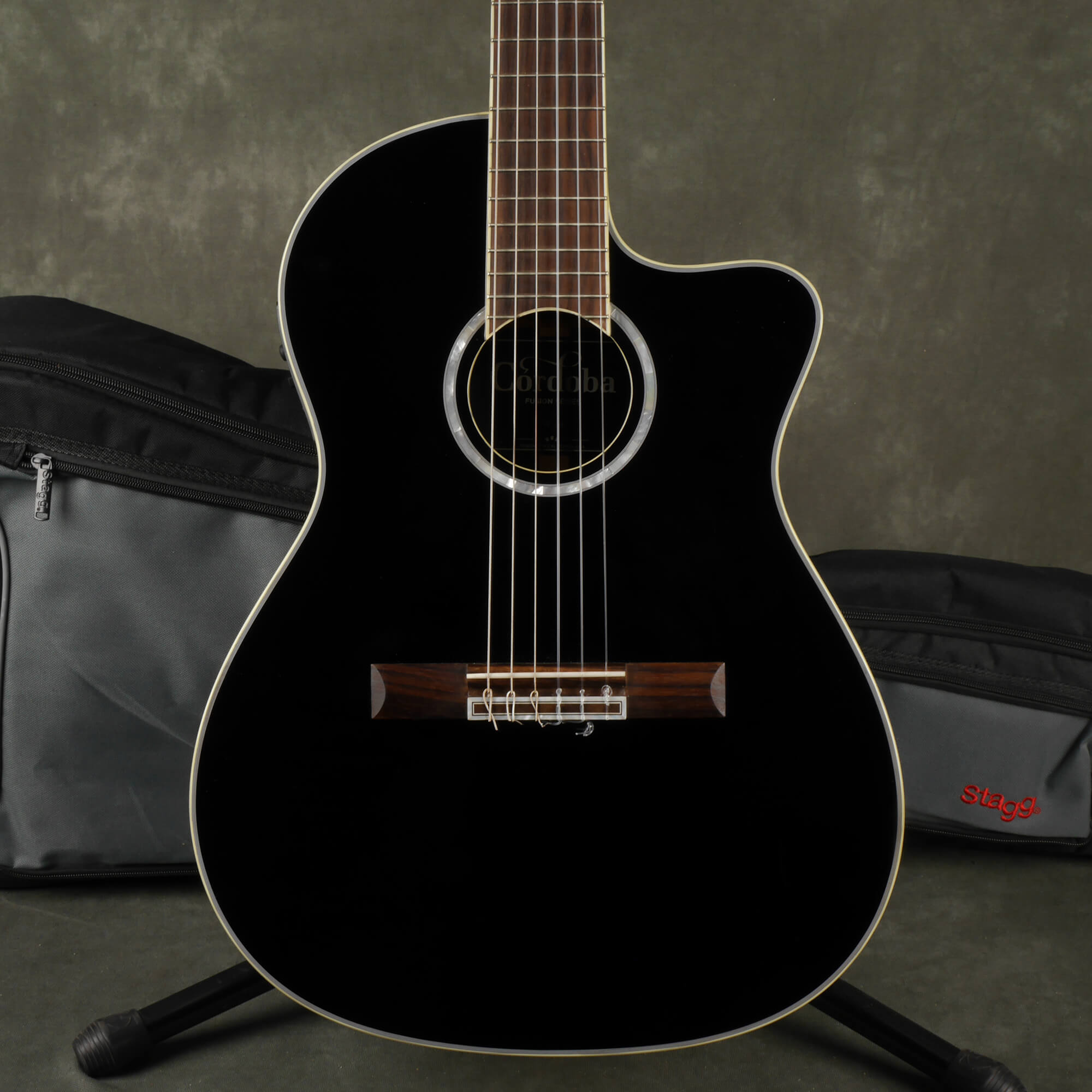 Cordoba Fusion 14 Jet Classical Electro-Acoustic Guitar - Black w/Bag - 2nd Hand