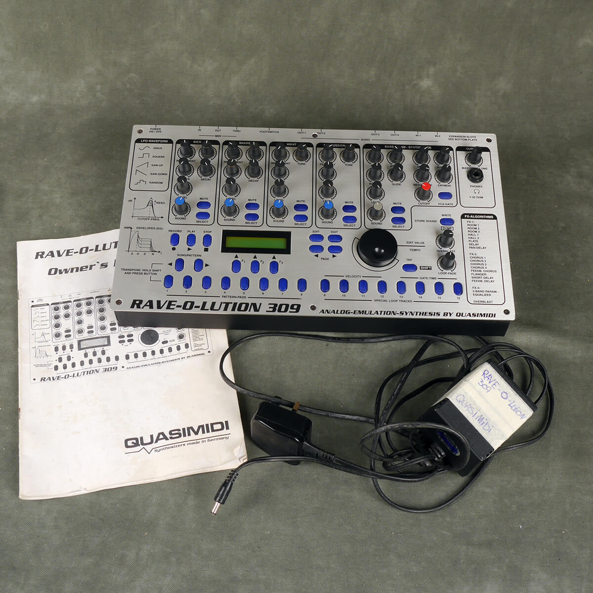 Quasimidi Rave-O-Lution 309 Synth w/Power Supply - 2nd Hand