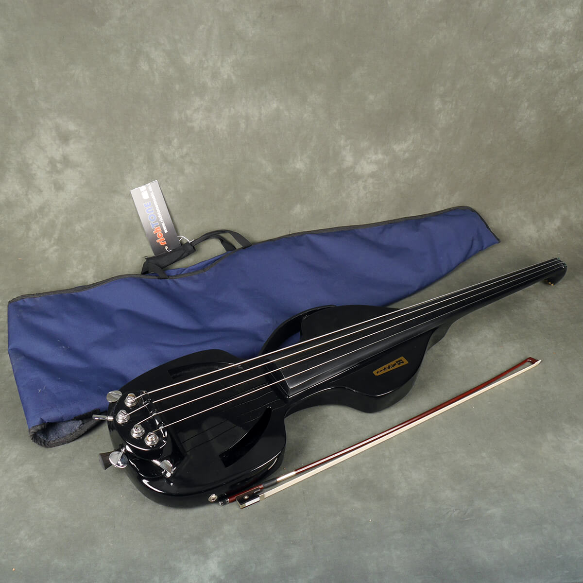 Bassix Composite Electric Double Bass - Black w/Gig Bag - 2nd Hand