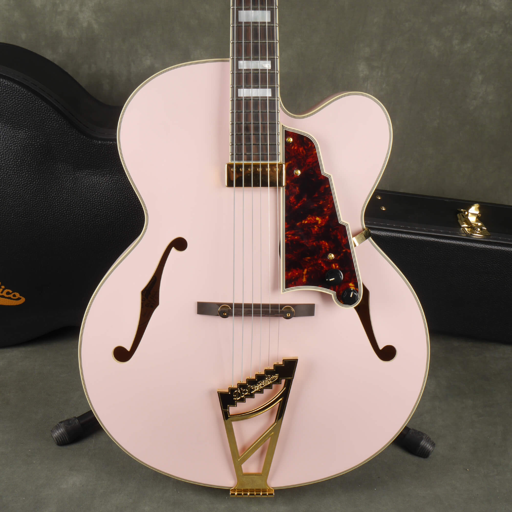 D'Angelico Deluxe EXL-1 Electric Guitar - Pink w/Hard Case - 2nd Hand