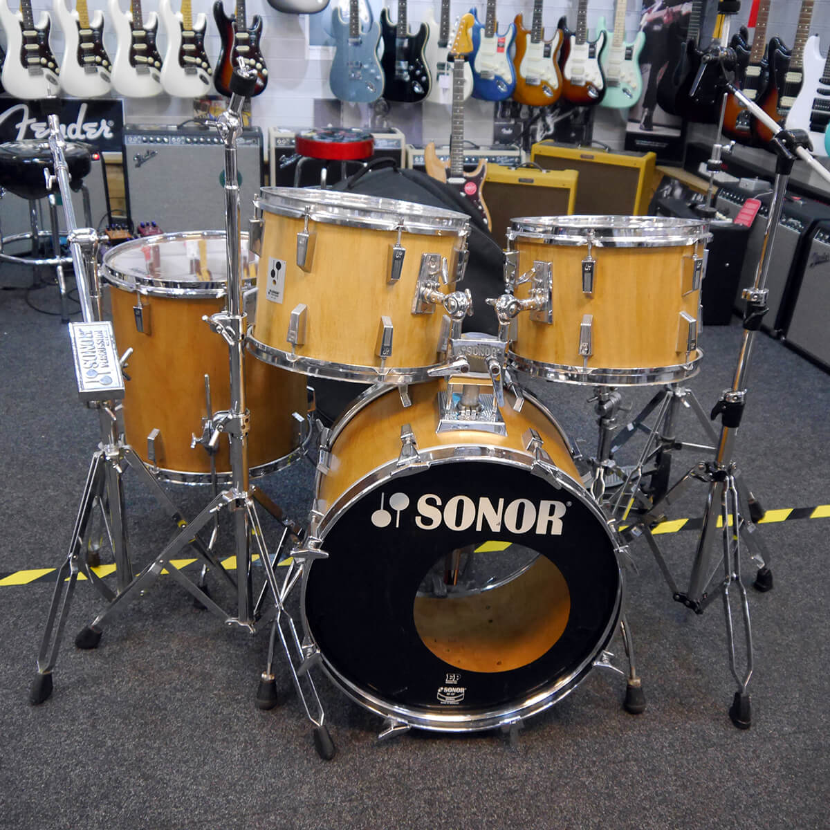 Sonor Phonic 9 Ply Beech Drum Kit w/Bag - 2nd Hand **COLLECTION ONLY**