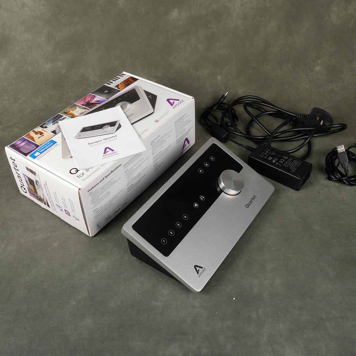 Apogee Quartet USB Audio Interface w/Box & PSU - 2nd Hand