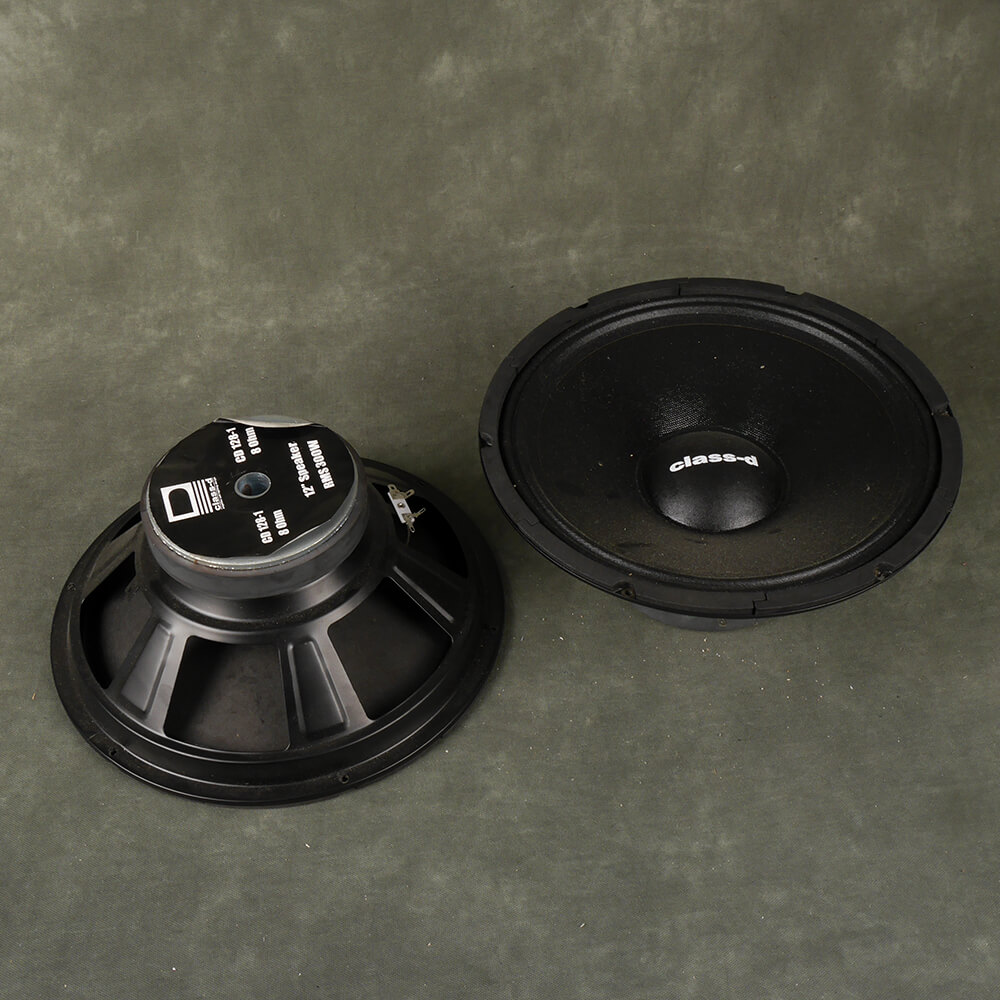 Class D Pair 12″ 300w 8ohm PA Speaker Drivers - 2nd Hand
