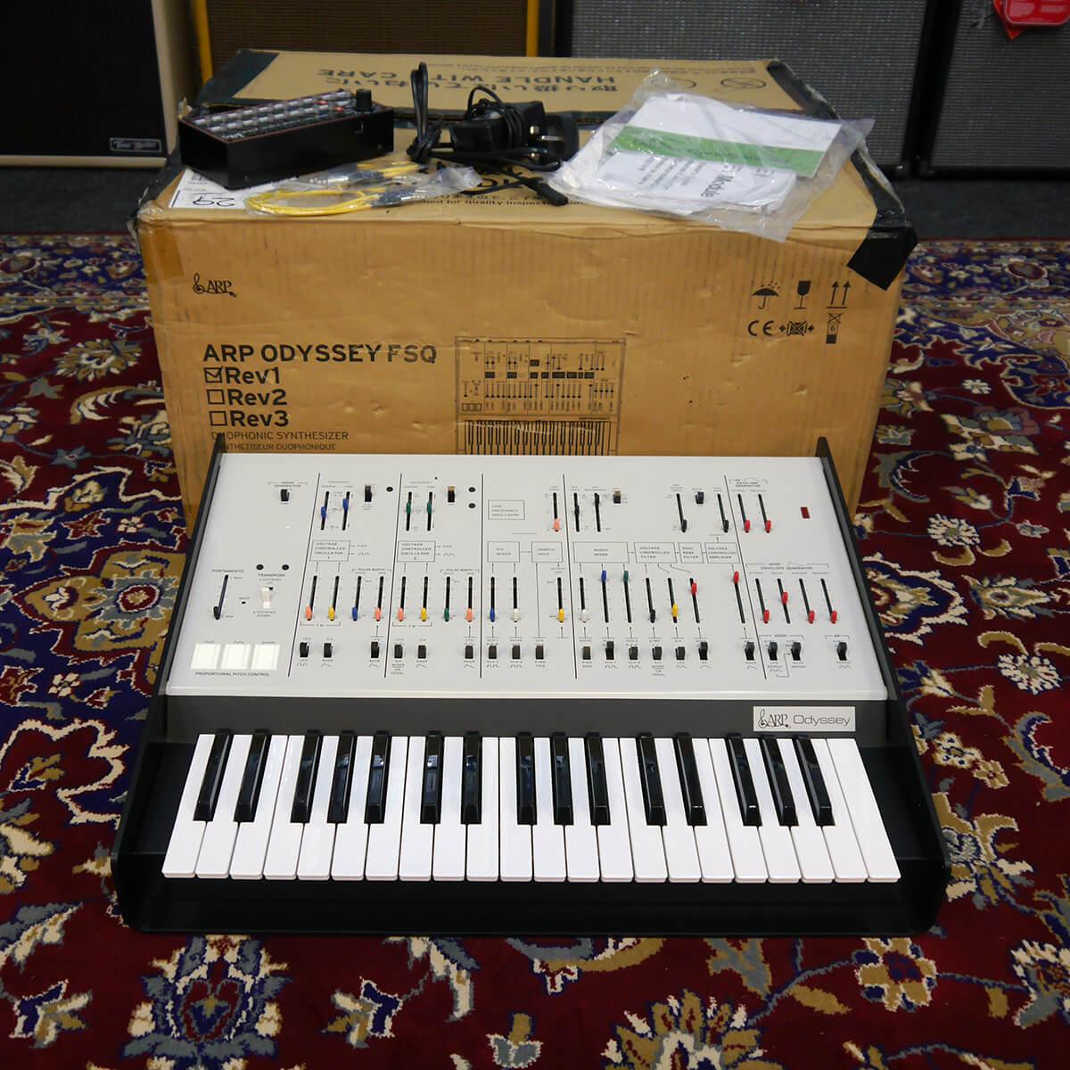Arp Odyssey Rev 1 White & SQ1 Sequencer w/Box & PSU - 2nd Hand