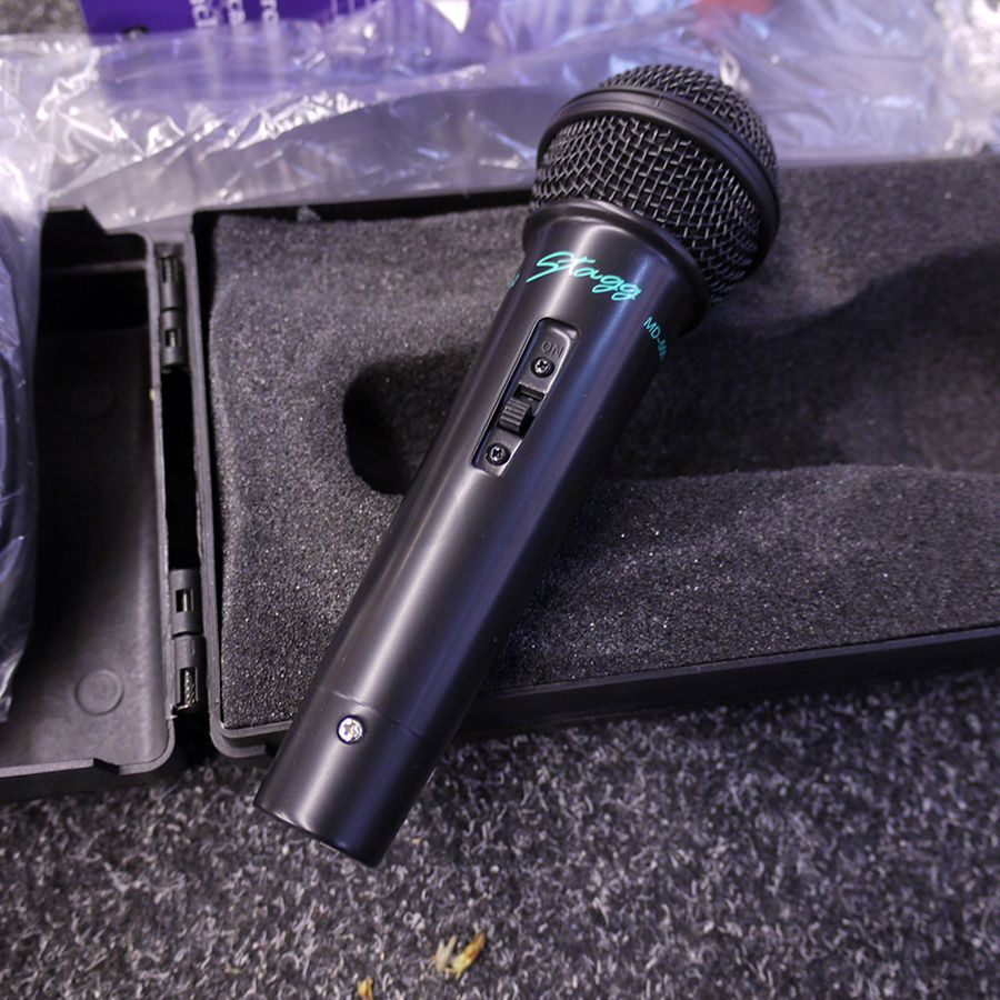 stagg md500 mic w hard case 2nd hand rich tone music. Black Bedroom Furniture Sets. Home Design Ideas