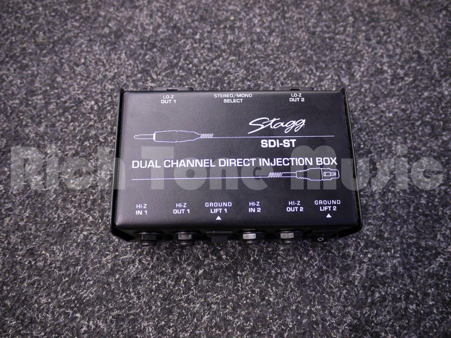 Stagg SDI-ST 2-Channel Passive DI Box with Mono//Stereo Switch