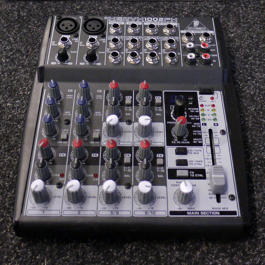 behringer xenyx 1002fx analog mixer w box 2nd hand rich tone music. Black Bedroom Furniture Sets. Home Design Ideas