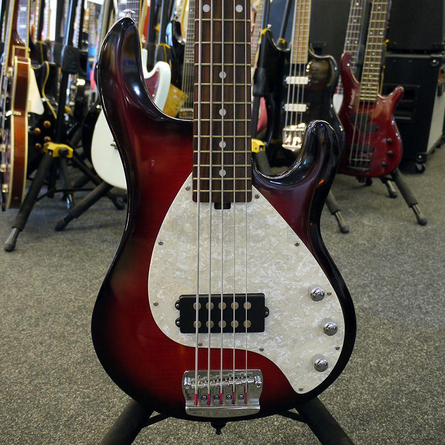 olp mm3 5 string bass guitar trans red burst 2nd hand rich tone music. Black Bedroom Furniture Sets. Home Design Ideas