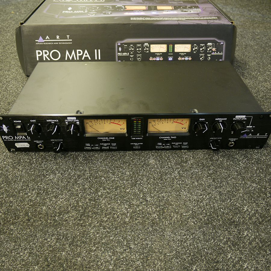 art pro mpa ii two channel tube mic preamp w box 2nd hand rich tone music. Black Bedroom Furniture Sets. Home Design Ideas
