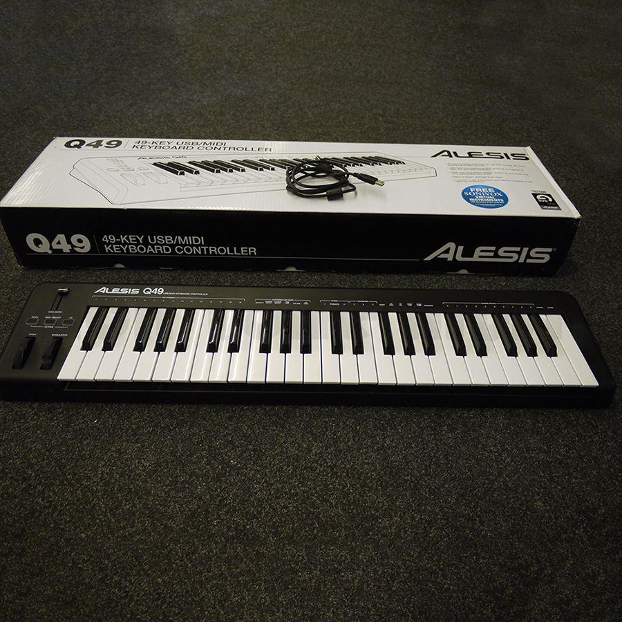 alesis q49 midi keyboard controller w box 2nd hand rich tone music. Black Bedroom Furniture Sets. Home Design Ideas